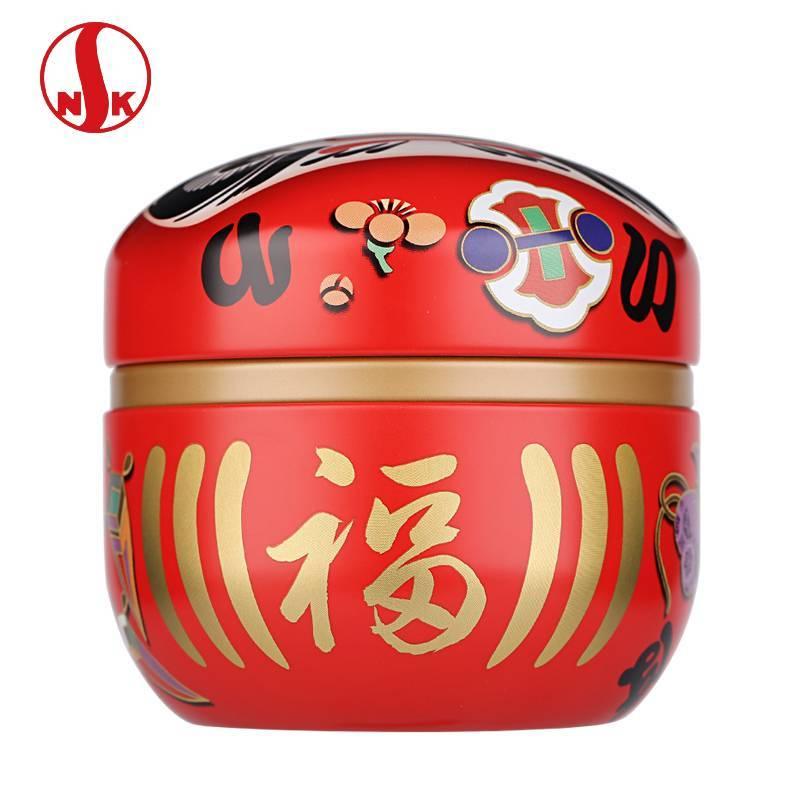 日本原产进口日东NITTOH镀锡马口铁茶叶罐 食品级茶盒