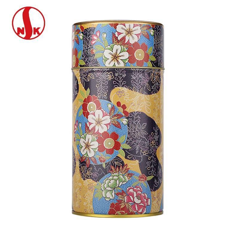 日本NITTOH原产进口日东茶叶罐 名师设计邹布图案食品级密封罐