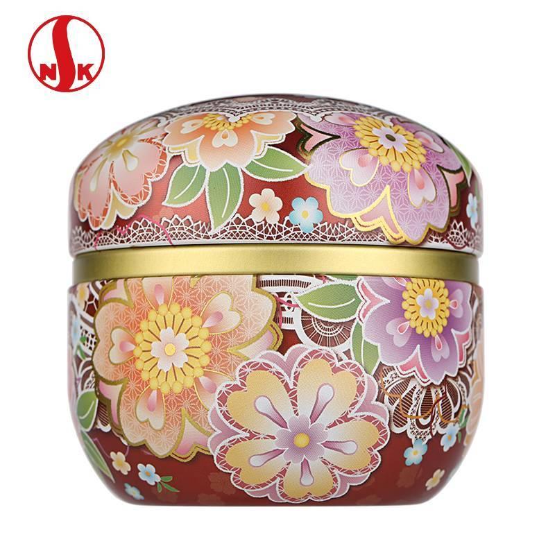日本茶叶罐 日本NITTOH原产镀锡马口铁茶罐 日式食品罐