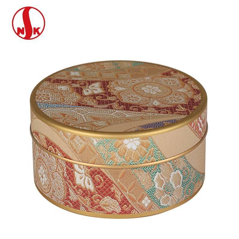 进口日本原产日东NITTOH随身迷你款镀锡马口铁茶叶罐