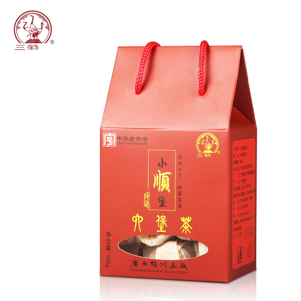 三鹤【小顺堡】2015年特级六堡茶沱茶熟茶春茶150g