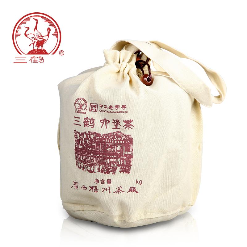 三鹤六堡茶[2706] 二级2017年散茶1000g广西梧州茶厂黑茶叶