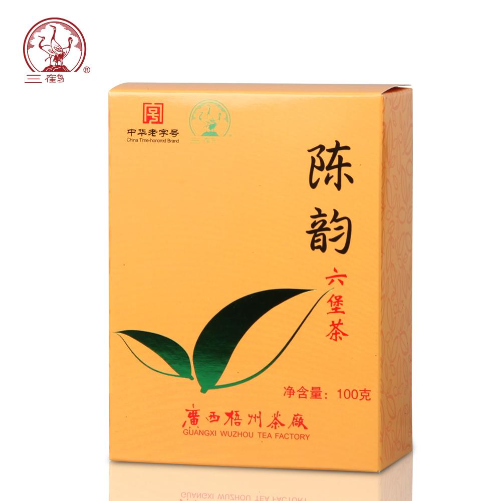 三鹤六堡茶【陈韵】2014年一级散茶100g广西梧州茶厂黑茶叶